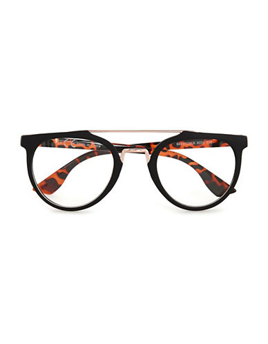 Topman Tortoiseshell Reader Glasses-BLACK-One Size