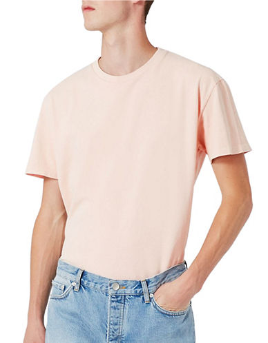 Topman LTD Washed Crew Neck T-Shirt-PINK-Small