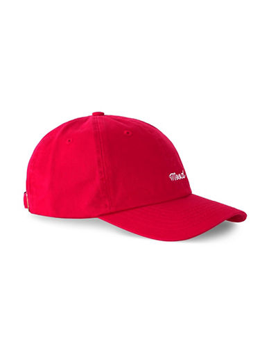 Topman Embroidered Void Cap-RED-One Size