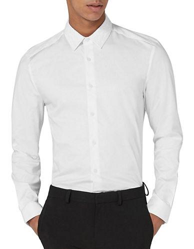 Topman Slim Fit Lace Shirt-WHITE-Medium