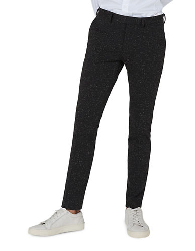 Topman Neppy Ultra Skinny Smart Trousers-BLACK-34