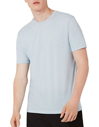 Topman Slim Fit T-Shirt-LIGHT BLUE-Large