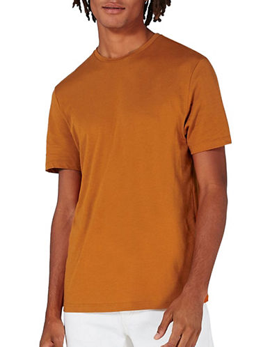 Topman Slim Fit T-Shirt-ORANGE-Small