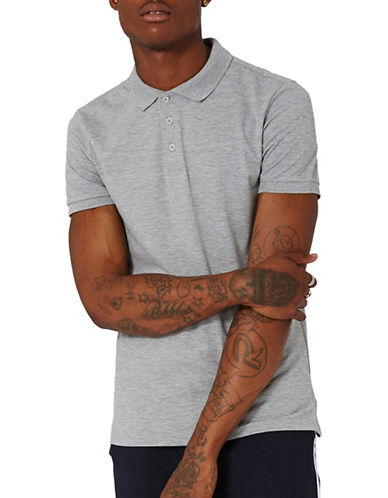 Topman Muscle Fit Polo-GREY-Large