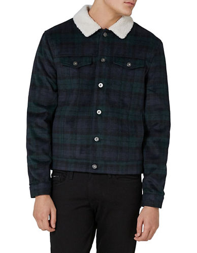 Topman Bryan Wool-Blend Western Jacket-BLACK-Small