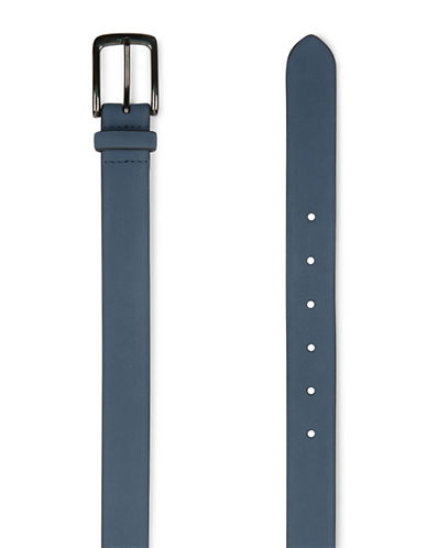 Topman Smart Suede Belt-DARK BLUE-Large/X-Large