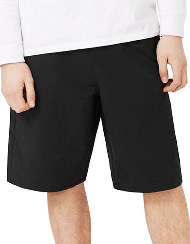 Topman Oversized Tech Shorts-BLACK-30