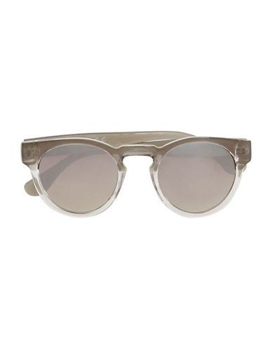 Topman Mirrored Sunglasses-LIGHT GREY-One Size