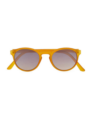 Topman Honey Round Mirrored Sunglasses-ORANGE-One Size