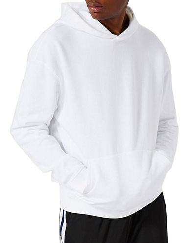 Topman Nico Oversized Hoodie-WHITE-Medium