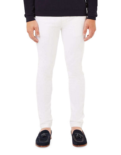 Topman Stretch Skinny Chinos-WHITE-30