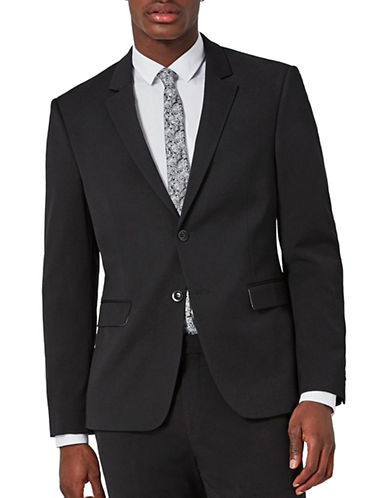 Topman Ultra Muscle Fit Suit Jacket-BLACK-34