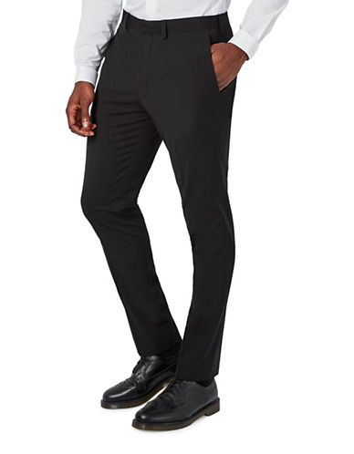 Topman Ultra Muscle Fit Suit Trousers-BLACK-30