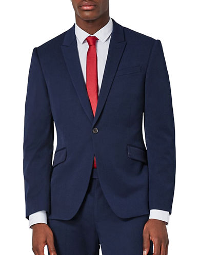 Topman Muscle Fit Suit Jacket-DARK BLUE-34