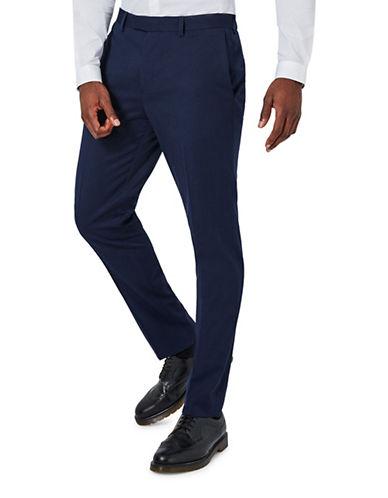 Topman Muscle Fit Suit Trousers-DARK BLUE-28