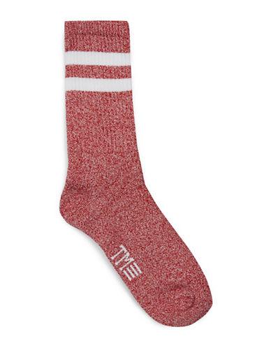 Topman Twist Tube Socks-RED-One Size