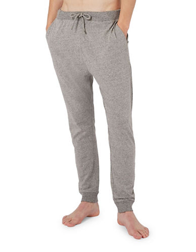 Topman Salt-and-Pepper Loungewear Joggers-GREY-Large