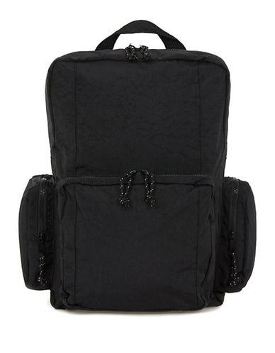 Topman Tekka Side Pocket Rucksack-BLACK-One Size