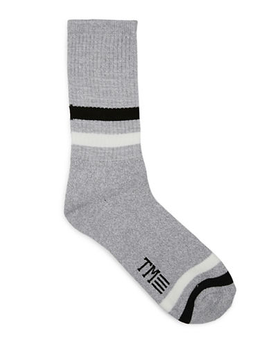 Topman Twist Tube Socks-GREY-One Size
