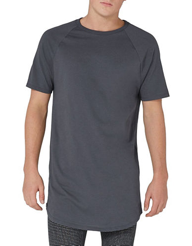 Topman Longline T-Shirt-BLUE-X-Small