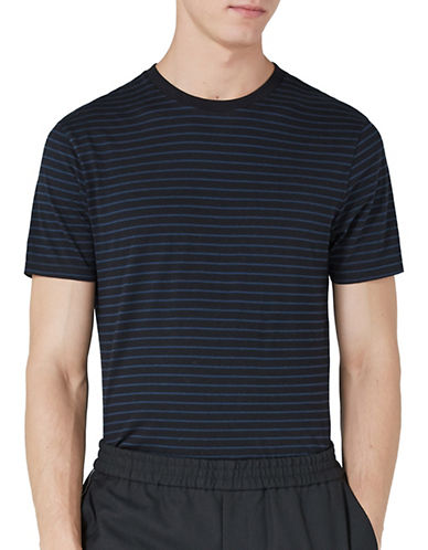 Topman Striped Slim Fit T-Shirt-BLACK-Medium