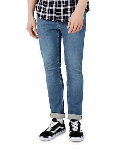 Topman Harrison Washed Stretch Skinny Jeans-BLUE-34