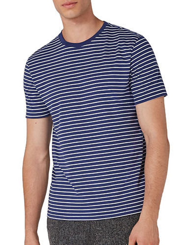 Topman Harry Stripe Slim Fit T-Shirt-DARK BLUE-Large