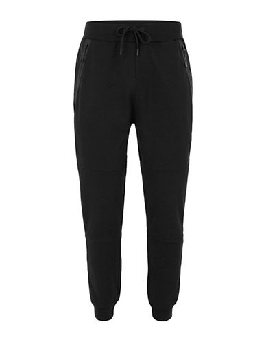 Topman Tech Skinny Joggers-BLACK-Medium