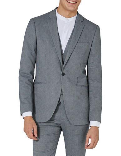 Topman Houndstooth Skinny Suit Jacket-GREEN-36