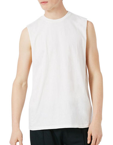 Topman Oversized Tank Top-GREY-Small 89274263_GREY_Small