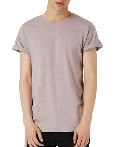 Topman Muscle Fit T-Shirt-PINK-Large