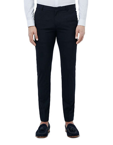 Topman Ultra Skinny Fit Smart Trousers-DARK BLUE-28 Short