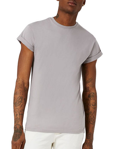 Topman Muscle Fit T-Shirt-GREY-Medium