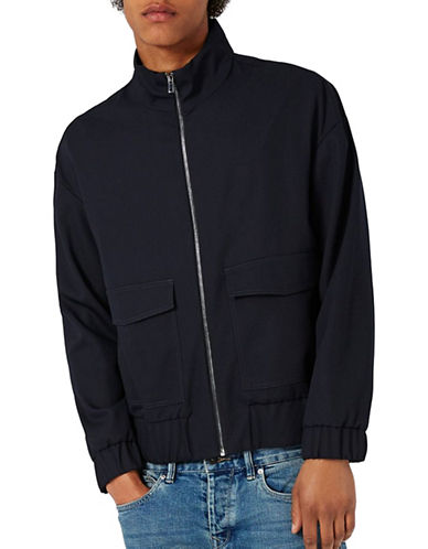 Topman Track Jacket-DARK BLUE-X-Small