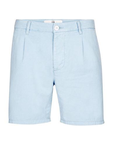 Topman Tencel Pleat Shorts-BLUE-30