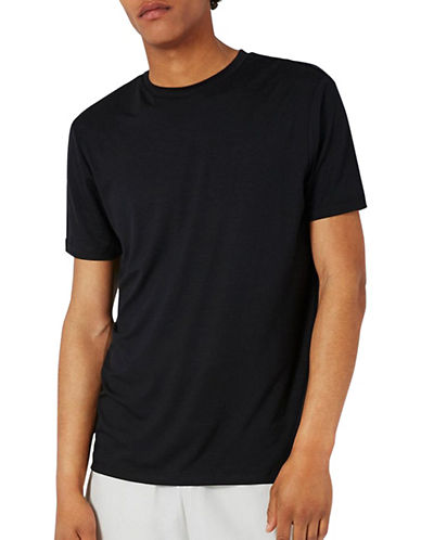 Topman Premium Slinky T-Shirt-BLACK-Medium 89303177_BLACK_Medium