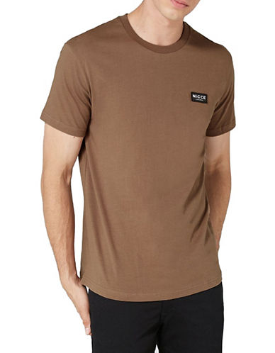 Topman NICCE Division T-Shirt-BROWN-X-Large