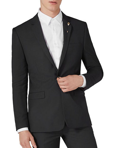 Topman Skinny Suit Jacket-BLACK-38