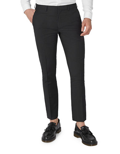 Topman Skinny Dress Pants-BLACK-32 Long