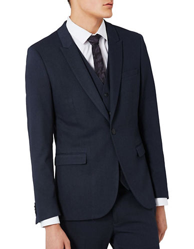 Topman Ultra Skinny Suit Jacket-DARK BLUE-42