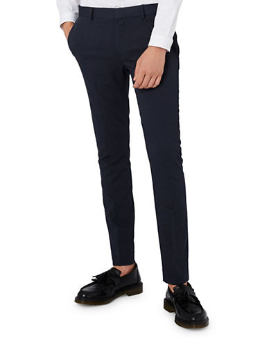 Topman Ultra Skinny Suit Trousers-DARK BLUE-32 Short