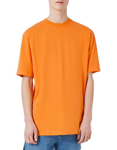 Topman Oversized T-Shirt-ORANGE-Large