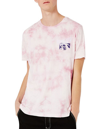 Topman Washed Pink Unknown Oversized T-Shirt-PINK-Large