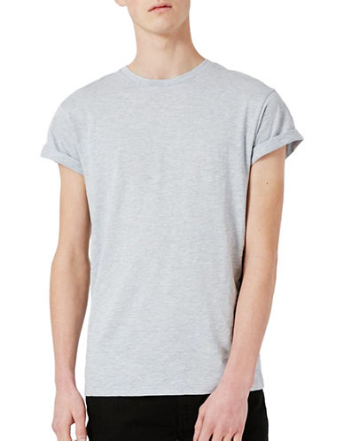 Topman Trade Cuffed T-Shirt-WHITE-Small 89244404_WHITE_Small