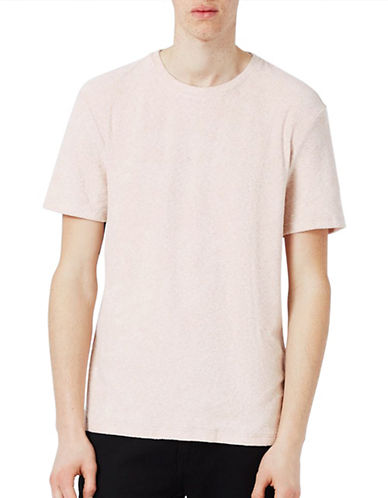Topman Towelling T-Shirt-PEACH-X-Large