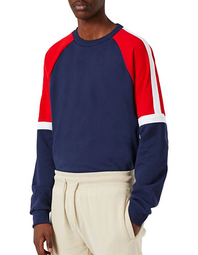 Topman Panelled Sweatshirt-MULTI-X-Large