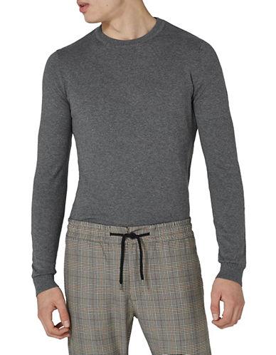 Topman Marl Essential Sweater-GREY-Medium