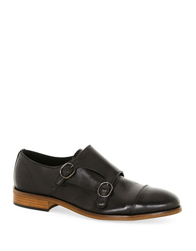 Topman Jaxon Monk Shoes by Union-BLACK-45