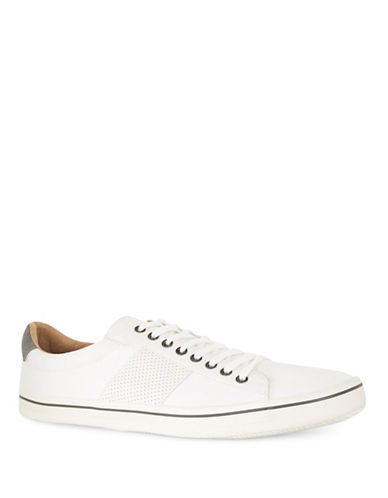 Topman Canvas Plimsolls-WHITE-42