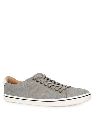 Topman Cooper Canvas Plimsoll Sneakers-GREY-45